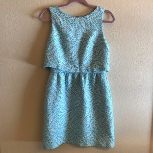 The Limited Blue & White Popover Dress, Size 4